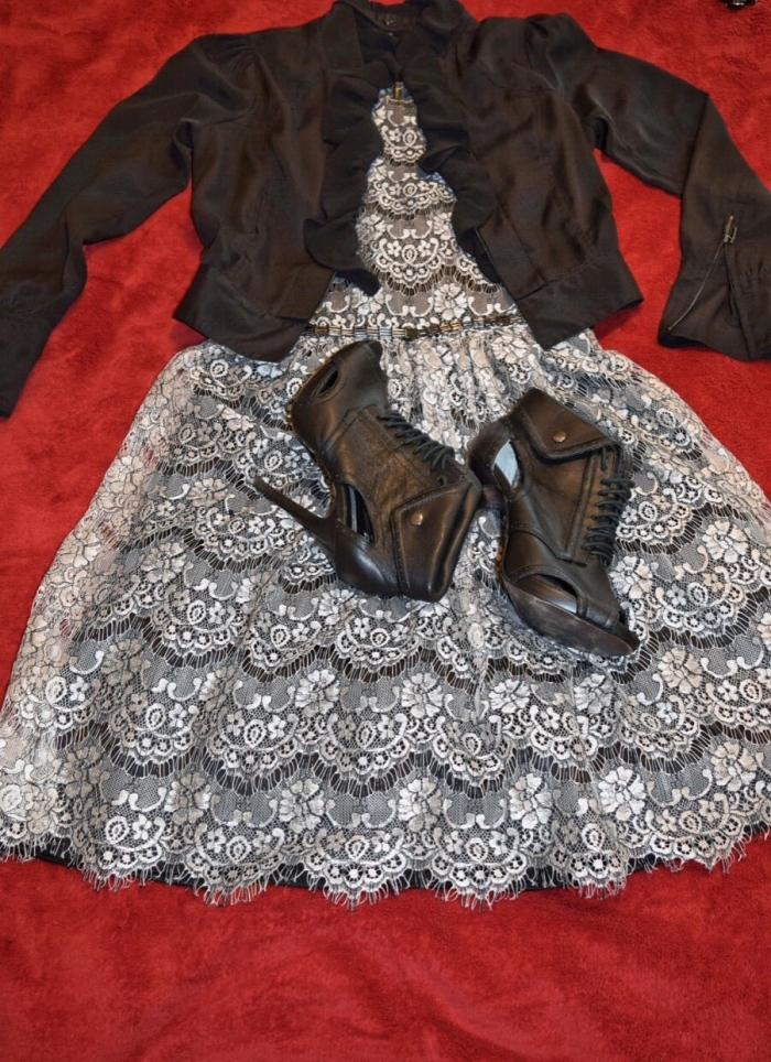 Eliza J Dress_Black Jacket 1