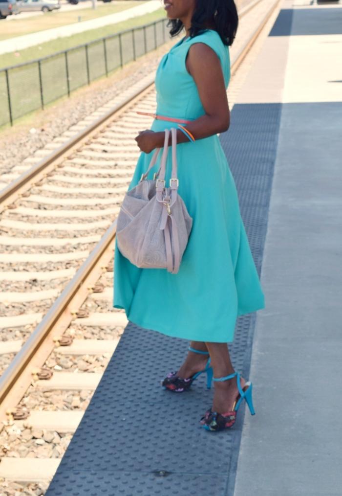 blue dress - fashionably late