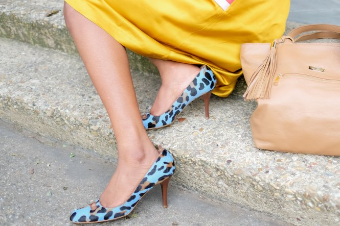 Blue Leopard Print Shoes